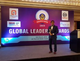 EXCELLENCE AWARD IN DERMATOLOGY AT GLOBAL LEADERS MEET 2019